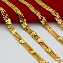 B43金凱利黃金銅手鏈 土豪金手鏈  精美情人節 花式