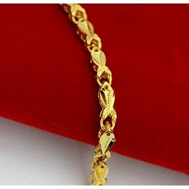 B48  仿黃金飾品 女士手鏈 24K鍍金