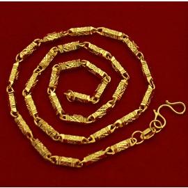 D15 仿黃金項鏈 24K高仿鍍金 實心項鏈 男士項鏈 飾品
