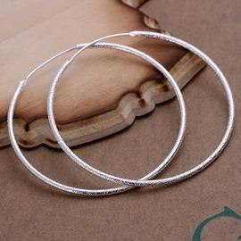 925銀耳飾 磨砂面大圈圈耳環耳環 外貿飾品廠價 光面