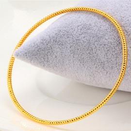 爆款毆幣細手環手鐲 歐硬幣鍍金手環 鍍黃金手鐲女 單個價