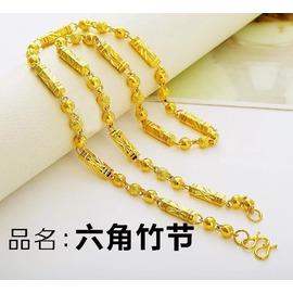 曬雅麗 橄欖珠足金項鏈男 特色 霸氣黃金鏈999首飾品6M60cm龍頭鏈