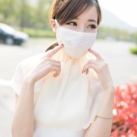 防曬口罩女夏防紫外線透氣口罩披肩護頸防塵騎車開車女加大面罩薄粉色