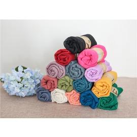 棉麻圍巾披肩兩用女超純色超大長 TR棉20條 趙麗穎同款黑色
