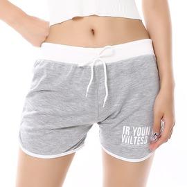 短褲三分褲褲頭夏純棉跑步 女薄款居家糖果色開叉 10件灰色均碼