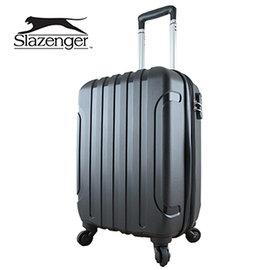 Slazenger 史萊辛格 20吋 駭客直條紋行李箱 拉桿箱 旅行箱 登機箱^(爵士黑^