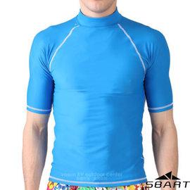 ~SBART~男  短袖緊身保暖防曬潛水上衣.水母衣.防寒衣.潛水服.潛水衣.浮潛服.衝浪