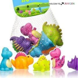 卡通恐龍造型塑料噴水洗澡玩具 益智玩具 5入裝【HH婦幼館 】