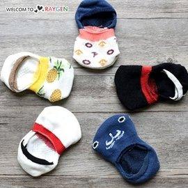 夏季卡通鳳梨圖案防滑襪 船襪 隱形襪【HH婦幼館】