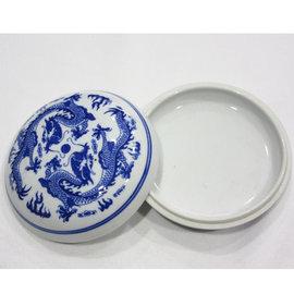 5Cgo ~ 七天交貨~524220571967 青花印泥盒特大號陶瓷印泥盒景德鎮瓷器書法
