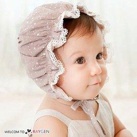 甜美寶寶蕾絲花邊燙金宮廷帽 遮陽帽【HH婦幼館】