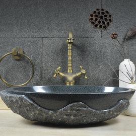 5Cgo ~ 七天交貨~525343506702 台上盆藝術盆橢圓形仿復古衛生間洗臉盆池大