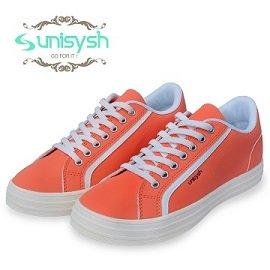Unisysh 日系貴族風休閒鞋^(鮮桔橙^)