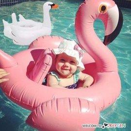夢幻天鵝火烈鳥造型兒童充氣游泳圈 浮板 度假 海邊【HH婦幼館】