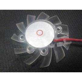 新竹市 顯卡/顯示卡 DC12V 5X5CM/2針 靜音風扇 /散熱器 **5吋-透明** [FFN-00006]