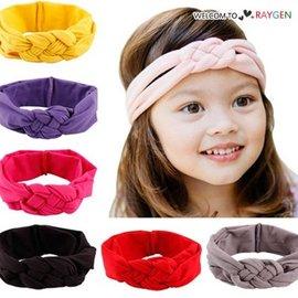 甜美女童糖果色中國結麻花造型髮帶 頭飾 髮箍【HH婦幼館】