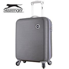 Slazenger 史萊辛格 20吋 珠光橫條紋行李箱 拉桿箱 旅行箱 登機箱 ^(紳士灰