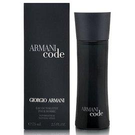 亞曼尼 GIORGIO ARMANI Code 黑色密碼男性淡香水 75ML