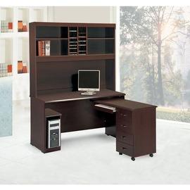 ~YC633~1~艾倫胡桃4.4尺轉角書桌^(全組^)^(含主機架^)^(不可拆賣^)