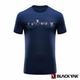 ~BLACKYAK~中性YAK ICE小犛牛短袖T恤~海軍藍^(BY161NC50356^