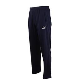 Mizuno  素色百搭輕柔舒適 針織運動套裝長褲(丈青) 32TD5A3814
