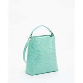 BEAM 鱷魚皮薄荷綠 兩用包 手提包 後背包 肩背包 手拿包 手提袋