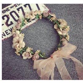 ~ 帽子裝飾花朵花環 新娘頭飾百搭頭箍