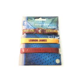 NBA官方出品 LEBRON JAMES 運動手環 (3入)