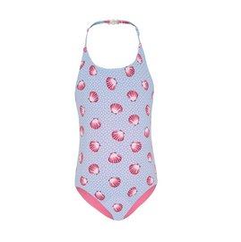 兒童泳衣 一件式泳衣~首款正反雙色可反穿 海貝殼系列~ Xtra life 萊卡 澳洲鴨嘴