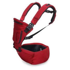 EXPECT 三合一多功能嬰兒腰凳背巾 - 藍黑色/紅色