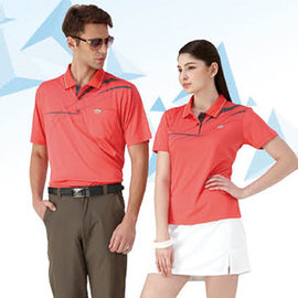 ~Londa Polo~吸濕排汗女版短袖POLO衫^(P41411^)橘紅色