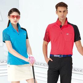 ~Londa Polo~吸濕排汗女版短袖POLO衫^(P41413^)土耳其藍色