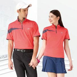 ~Londa Polo~吸濕排汗女版短袖POLO衫^(P41418^)橘紅色