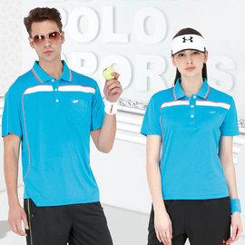 ~Londa Polo~吸濕排汗男版短袖POLO衫^(P49416^)土耳其藍色