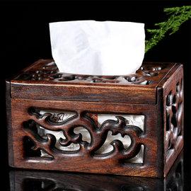 5Cgo ~ 七天交貨~2375259630 茶道功夫茶具擺件六君子木質抽紙盒東南亞複古風