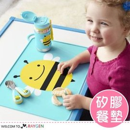 兒童動物圖案矽膠餐墊 防水防滑可折疊 攜帶方便【HH婦幼館】