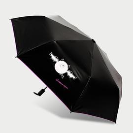 晴雨傘預售 新品小惡魔黑膠傘遮陽遇水變色晴雨傘三折小黑傘~韓風館~