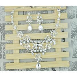 新娘頭飾韓式水鑽 梳 王冠皇冠項鍊結婚禮婚紗配飾品套裝裝(韓風館)