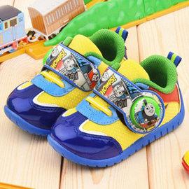 童鞋城堡~湯瑪士 中童 漫畫風電燈休閒鞋TH86045~藍