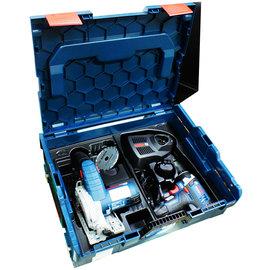 BOSCH 鋰電圓鋸機GKS10.8V-Li/衝擊起子機GDR10.8V-Li/系統工具箱136(中型)雙主機超值套裝組