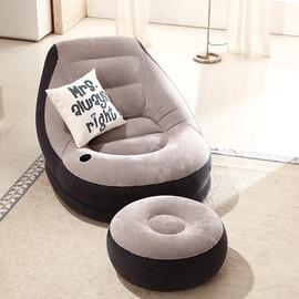 木優懶人沙發單人陽台午睡充氣小沙發床臥室 休閒宿舍懶人椅子~韓風館~