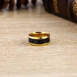 健康可測人體溫度戒指男女情侶對戒智能魔戒感溫指環 飾品~韓風館~
