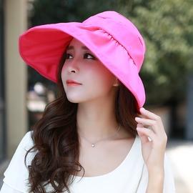 帽子女 大沿遮陽帽防曬沙灘帽防紫外線太陽帽 可折疊涼帽款式: 遮 帽~韓風館~