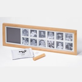 【紫貝殼】『*04』比利時【Baby Art 】1st Year Print Frame 週年手腳印紀念相框(最佳彌月禮) 原木色 無玻璃外框,保證新品
