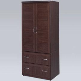 Homelike 班克2.7x6尺衣櫃^(胡桃色^)