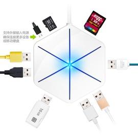 ~ USB擴展插座~博可斯 usb分線器高速擴展延長線6口分線器集線器otg轉換器讀卡器~