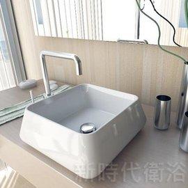 ^~新時代衛浴^~ 台上薄邊方盆40cm 薄邊有型VG76