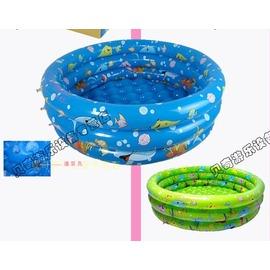 80cm三環充氣兒童戲水池嬰兒游泳池洗澡浴缸~韓風館~