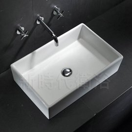 ^~ 新時代衛浴 ^~ 薄邊方型台上盆,7071