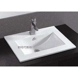 ^~新時代衛浴 ^~ 60cm薄方盆  浴櫃 感十足^~